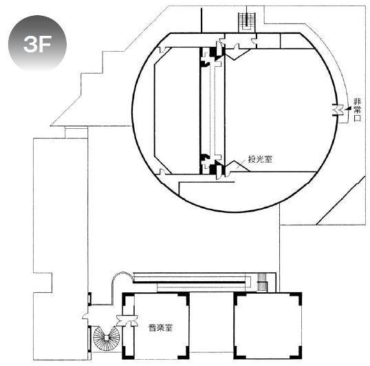 劇場案内図3F