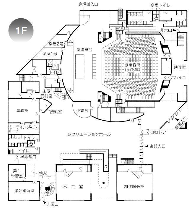 劇場案内図1F